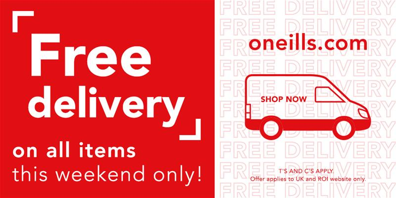 Free Delivery On Merchandise This Weekend